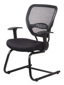 Space Air Grid Series Guest Chair Black 26-1/2
