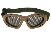 Airsoft Adjustable Mesh Wire Goggles-Tan