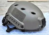 AIRSOFT GREEN FG CORE OPS TACTICAL HELMET JUMP RAIL @ HELMET