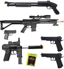 BBTac Airsoft Package - Lot of 5 Airsoft Guns Sniper Rifle
