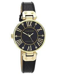 Anne Klein Women's AK/1396BMBK Gold-Tone Black Mother-Of-