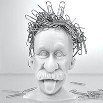 Albert Einstein Genius Bald Headed Magnetic Paper Clip