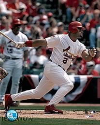 Albert Pujols St. Louis Cardinals MLB Hologram 8x10 Color