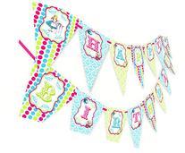 Alice in Wonderland Happy Birthday Banner - Brights