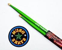 "Pocket Stix 13"" Alien Green Drumsticks and 4"" Pocket Padz"