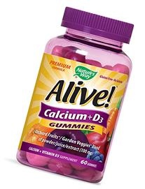 Nature's Way Alive! Calcium + D3 Gummies