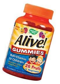 Alive Multi Vitamin Gummies for Children, 90 per unit -- 12