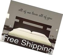 all of me loves all of you - vinyl wall decal sticker