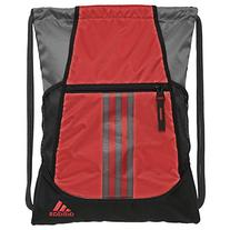 adidas Alliance II Sackpack, Scarlet/Onix/Black, 18 x 13.75-