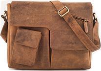 LEABAGS London genuine buffalo leather crossbody bag in