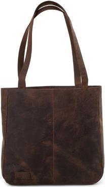 LEABAGS Darlington genuine buffalo leather shopper bag in