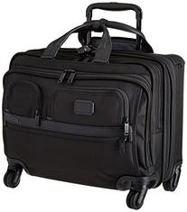 TUMI - Alpha 2 Carry-on Wheeled Laptop Deluxe Brief Briefcase - 15 Inch Computer Brief for Men and Women - Black