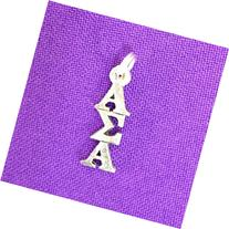 Alpha Sigma Alpha Sorority Lavaliere in Sterling Plate
