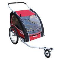 Allen Sports Premium Aluminum 2 Child Bicycle Trailer and