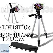 "Acuvar 50"" Inch Aluminum Camera Tripod + Universal"