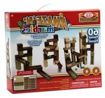 Ideal Amaze 'N' Marbles 60 Piece Classic Wood Construction