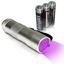 Petseer UV Flashlight Pet Urine Detector with 12 LED Ultra