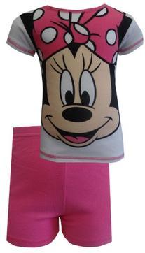 AME Sleepwear Big Girls'  Minnie Cotton Pajama Short Set,