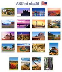 AMERICA THE BEAUTIFUL postcard set of 20. Post card variety