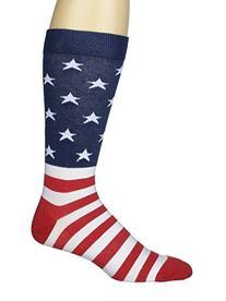 K. Bell Socks Men's American Flag Sock, Red/White/Blue, 10-
