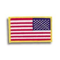 American Flag w/ Gold Trim Patch