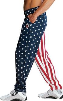 Otomix Men's American Flag USA Baggy Workout Pants Large