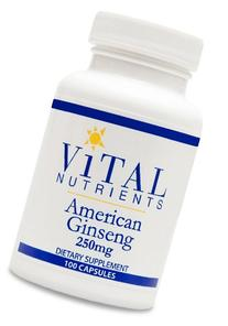 Vital Nutrients - American Ginseng 250 mg - Energy Support