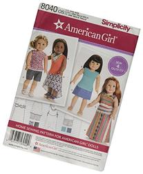 Simplicity Creative Patterns US8040OS American Girl Doll