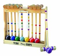 Amish-Crafted Deluxe Wooden Croquet Game Set, 8 Player