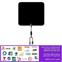 TV Antenna, BACRON Ultra Thin Amplified 50-Miles HDTV