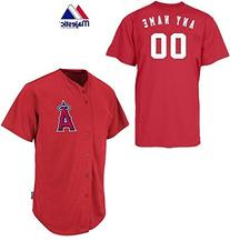 Anaheim/Los Angeles Angels Full-Button CUSTOMIZED  Major