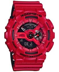 G-Shock Men's Analog-Digital Glossy Red/Black Dual Layer