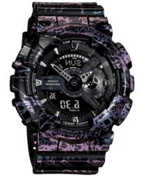 G-Shock Men's Analog-Digital Black Polarized Resin Strap
