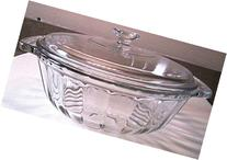 Anchor Hocking Clear Glass Casserole with Scalloped Sides -