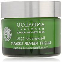 Andalou Naturals Resveratrol Q10 Night Repair Cream, 1.7