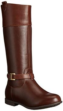 Tommy Hilfiger Kids Andrea Signature Riding Boot ,Dark Brown