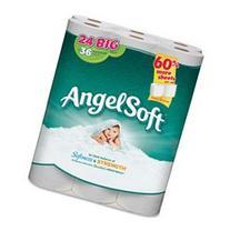 Angel Soft PS - Bathroom Tissue, 2-Ply, 198 Shts, 24RL/PK,