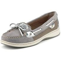 Sperry Top-Sider Women's Angelfish Grey Sparkle Suede/Silver