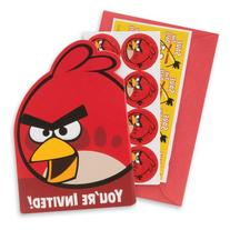 Angry Birds Invitations - Party Supplies - 8 per Pack