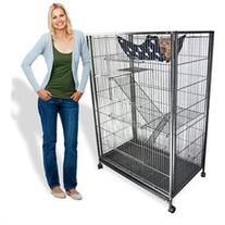 Large Animal Cage Cat Cage Playpen Tower Hammock Bed 55 Tall