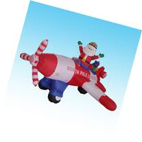 Animated - 8 Foot Long Christmas Inflatable Santa Claus