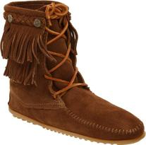 Minnetonka Women's Ankle Hi Tramper Boot,Dusty Brown,7 M US