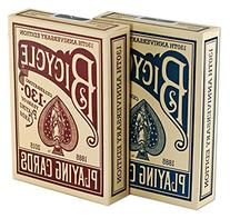 Bicycle 130th Anniversary Playing Cards, Red