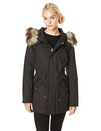 Jessica Simpson Women's Anorak Parka with Faux Fur Hood,