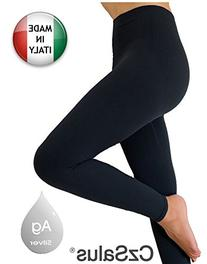 Anti cellulite slimming leggings  + silver - Black size L