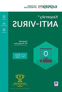 Kaspersky Anti-Virus 2016 | 3 PCs  | 1 Year | Download