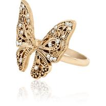 Accessorize Antique Butterfly Ring