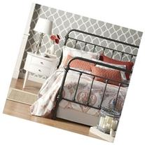 Home Creek Antique-Style Katherine Metal Frame Bed Gray