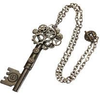 Antique Style Key Gear Necklace