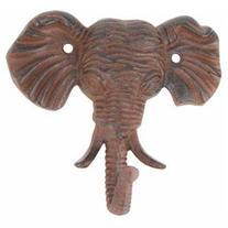 Antiqued Reproduction Cast Iron Elephant Head Single Hook